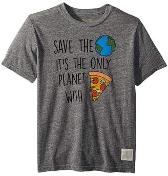 Original Retro Brand The Kids Save The Earth Short Sleeve Vintage Tri-Blend Tee Boy's T Shirt