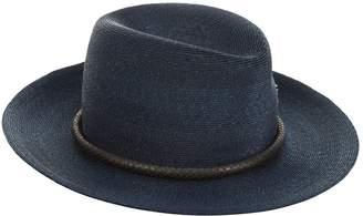 Philip Treacy Snakeskin Trim Trilby Hat
