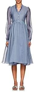 Thierry Colson Women's Shanagar Silk-Cotton Wrap Dress-Blueberry