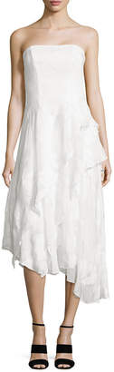 Shoshanna Embroidered Asymmetric Gown
