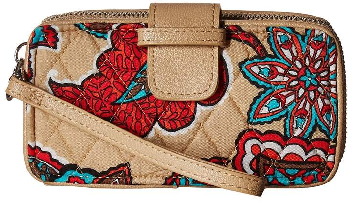 Vera Bradley RFID Smartphone Wristlet Wristlet Handbags - DESERT FLORAL - STYLE