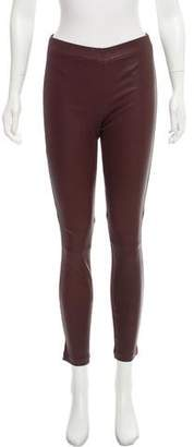 Vince Leather Accented Skinny Leggings