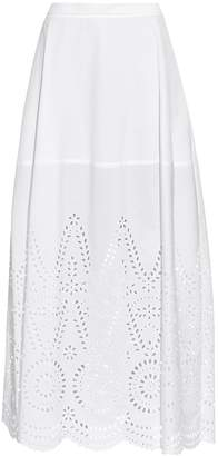 Stella McCartney Penelope broderie-anglaise panel maxi skirt