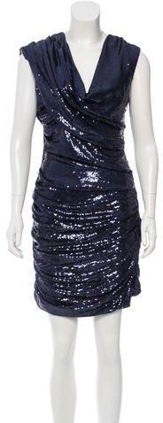 Alexander WangAlexander Wang Cowl Neck Sequined Dress
