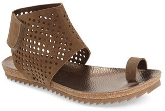 Women's Pedro Garcia Perforated Ankle Cuff Sandal $440 thestylecure.com