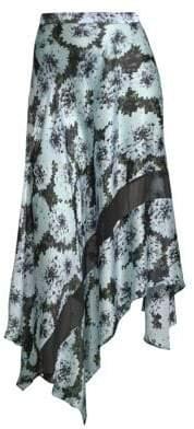Fleur Du Mal Handkerchief Hem Midi Skirt