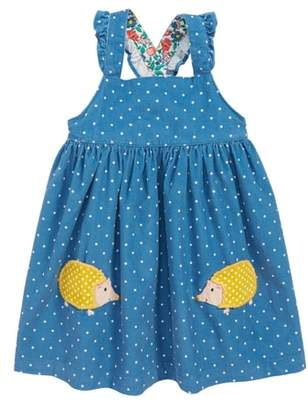 Boden Mini Applique Corduroy Pinafore Dress