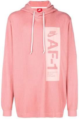Nike logo printed drawstring hoodie