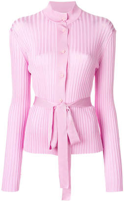 Emilio Pucci belted ribbed-knit cardigan