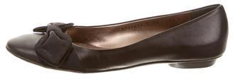 Salvatore FerragamoSalvatore Ferragamo Leather Bow Flats
