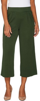 Halston H By H by Regular Knit Cropped Wide Leg Pants
