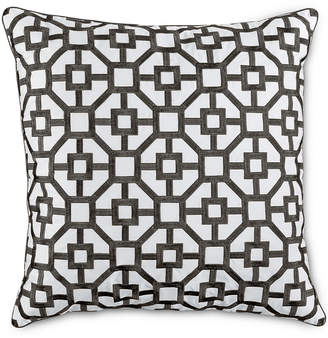 "Hotel Collection Embroidered Frame 18"" Square Decorative Pillow"