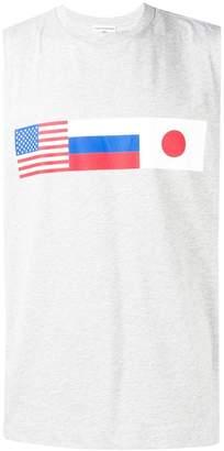 Gosha Rubchinskiy flag print vest