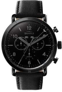 Shinola Canfield Sport Chronograph Leather Watch