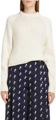 Chloé Mixed Knit Wool & Cashmere Blend Sweater