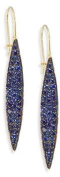 Ila Odette Blue Sapphire& 14K Yellow Gold Drop Earrings