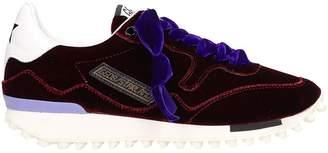 Golden Goose Starland Burgundy Velvet Sneakers