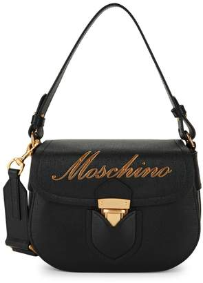Moschino Leather Crossbody Satchel