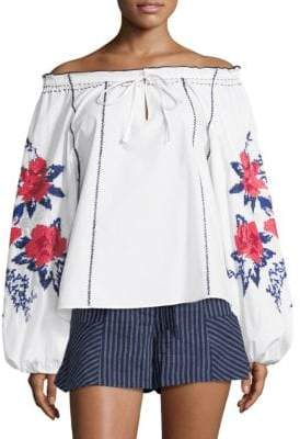 Parker Laureena Embroidered Blouse