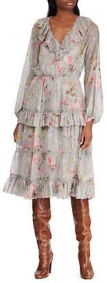 Polo Ralph Lauren Printed SIlk Crinkle Dress