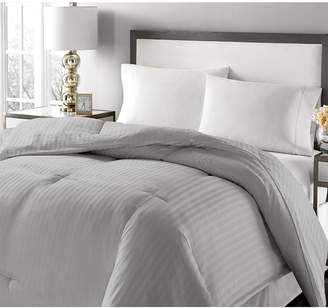 Royal Luxe Luxury Damask Stripe Down & Feather King Comforter