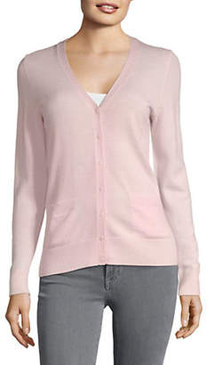 Lord & Taylor V-Neck Basic Cardigan