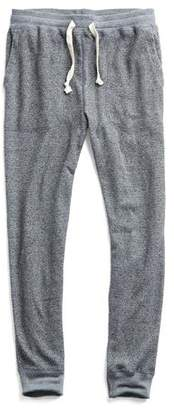 Todd Snyder Rice Thermal Sweatpant in Black Mix