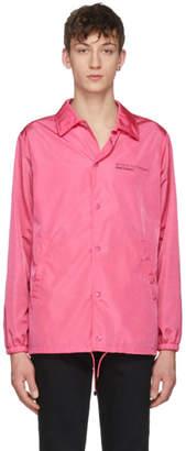 Valentino Pink Nylon Anywhen Coach Jacket