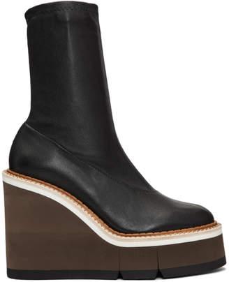 Clergerie Black Britt Wedge Boots