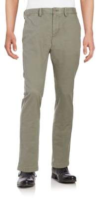 Black & Brown Straight-Leg Chino Pants