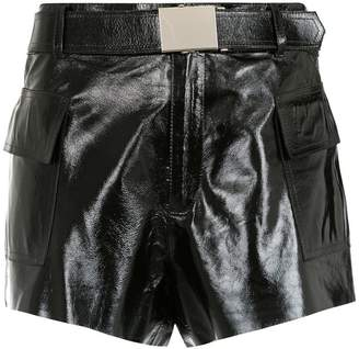 Nk panelled leather shorts