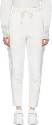 See by Chloe Off-White Panelled Drawstring Lounge Pants