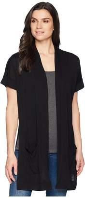 Three Dots Ayala Short Sleeve Cardigan Women's Sweater