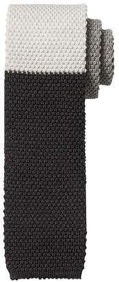 Banana Republic Varsity Stripe Knit Silk Tie