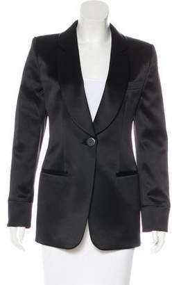 Giorgio Armani Long Sleeve Satin Blazer