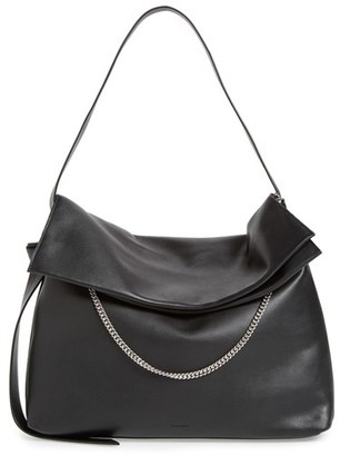 Allsaints 'Large Lafayette' Leather Shoulder Bag - Black $378 thestylecure.com