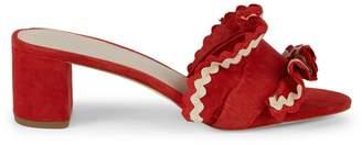 Loeffler Randall Vera Ruffle Suede Sandals