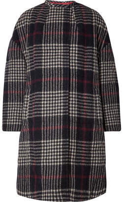 Isabel Marant Harrison Oversized Plaid Wool Coat - Midnight blue