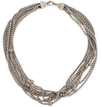 David Yurman Diamond Eight Row Necklace