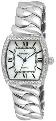Peugeot Women's 'Teardrop Link' Quartz Metal and Silver Plated Casual Watch(Model: 7099S)