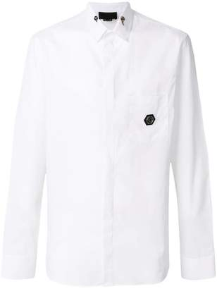 Philipp Plein logo patch shirt