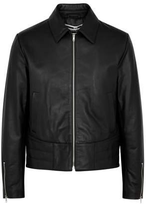 McQ Motto Black Leather Jacket