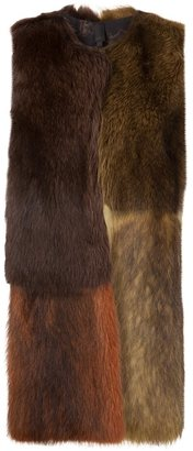 Vera Wang colour block fur vest $5,900 thestylecure.com