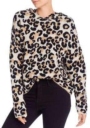 Aqua Hooded Leopard-Print Sweater - 100% Exclusive