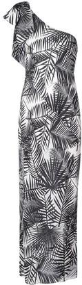 Fleur Du Mal palms print single-shoulder dress