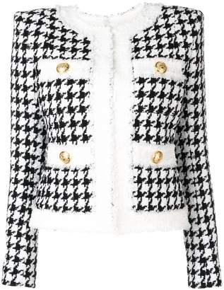 Balmain houndstooth tweed jacket