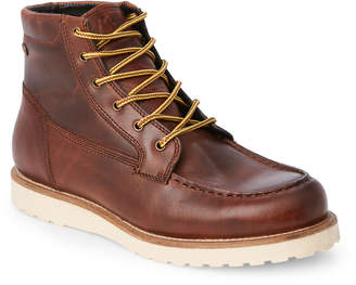 Pajar Canada Cognac Leather Moc Toe Lounge Boots