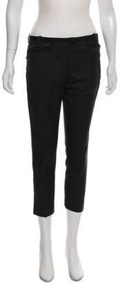 Etoile Isabel Marant Wool Mid-Rise Cropped Pants