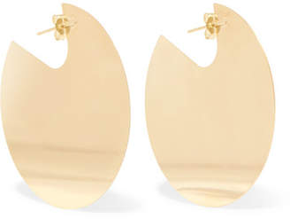 Saskia Diez Paillettes No3 18-karat Gold-plated Earrings