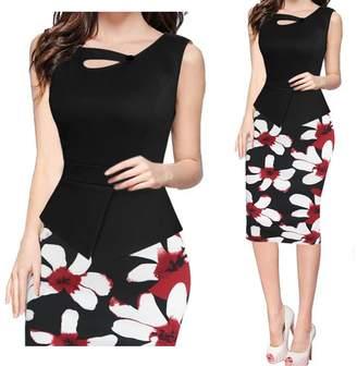 Kain Label Women Buttons Cross Coorbock Pepum Fora Skirt Tunic Maxi Penci Dress